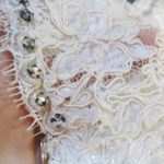 60s wedding dress white lace satin rhinestones-the remix vintage fashion