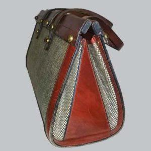 john romain handbag leather tweed 60s 70s designer purse-the remix vintage fashion