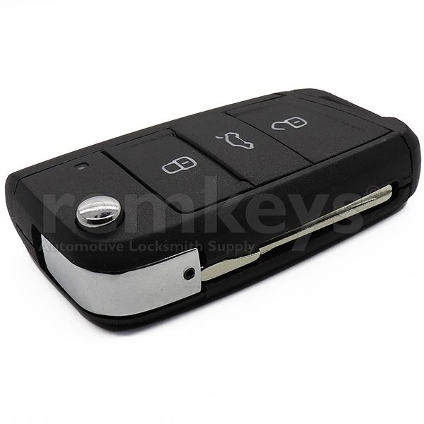 Golf7 3 Button Flip Remote Case