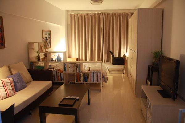 Diseño de apartamentos pequeños, tipo estudio, modernos (4/5)