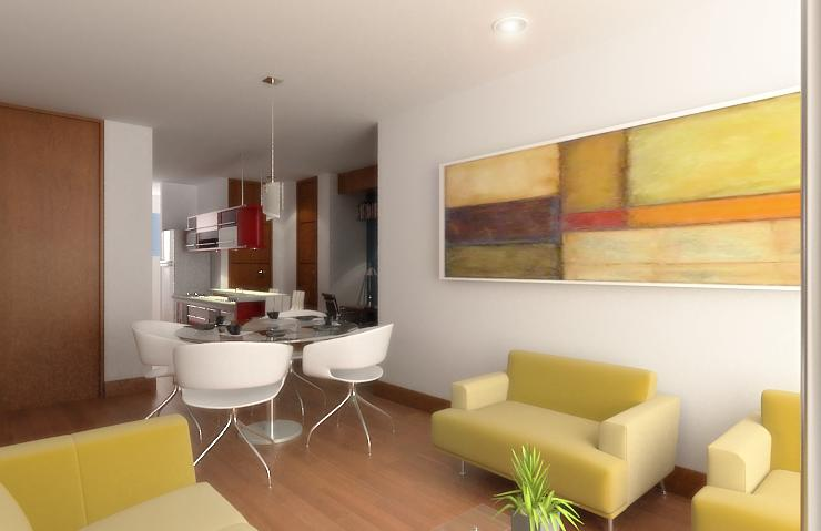 Diseño de apartamentos pequeños, tipo estudio, modernos (1/5)