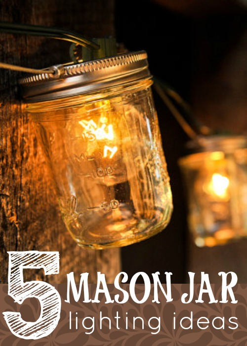 5 Mason Jar Lighting Ideas via Tipsaholic