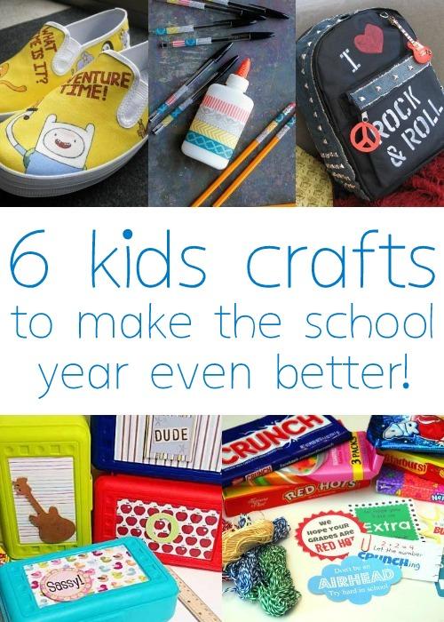 6 Easy Kids Crafts for Back to School via Tipsaholic.com