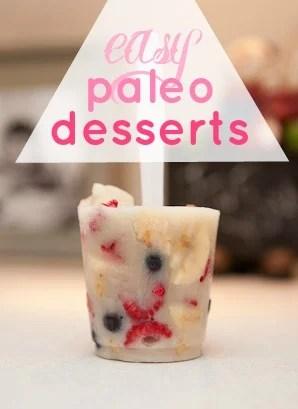 Easy Paleo Desserts via Tipsaholic.com