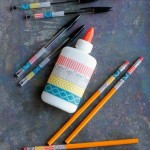 washi tape school supplies via Tipsaholic