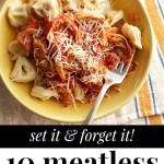 Vegetarian Slow Cooker Meals via Tipsaholic