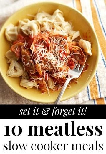 Vegetarian Slow Cooker Meals via Tipsaholic.com