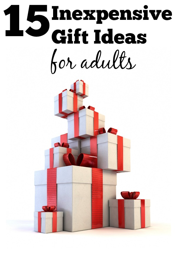Have someone especially hard to shop for on your Christmas list? They are probably an adult and here are some inexpensive creative gift ideas for adults via tipsaholic.com #gifts #christmas