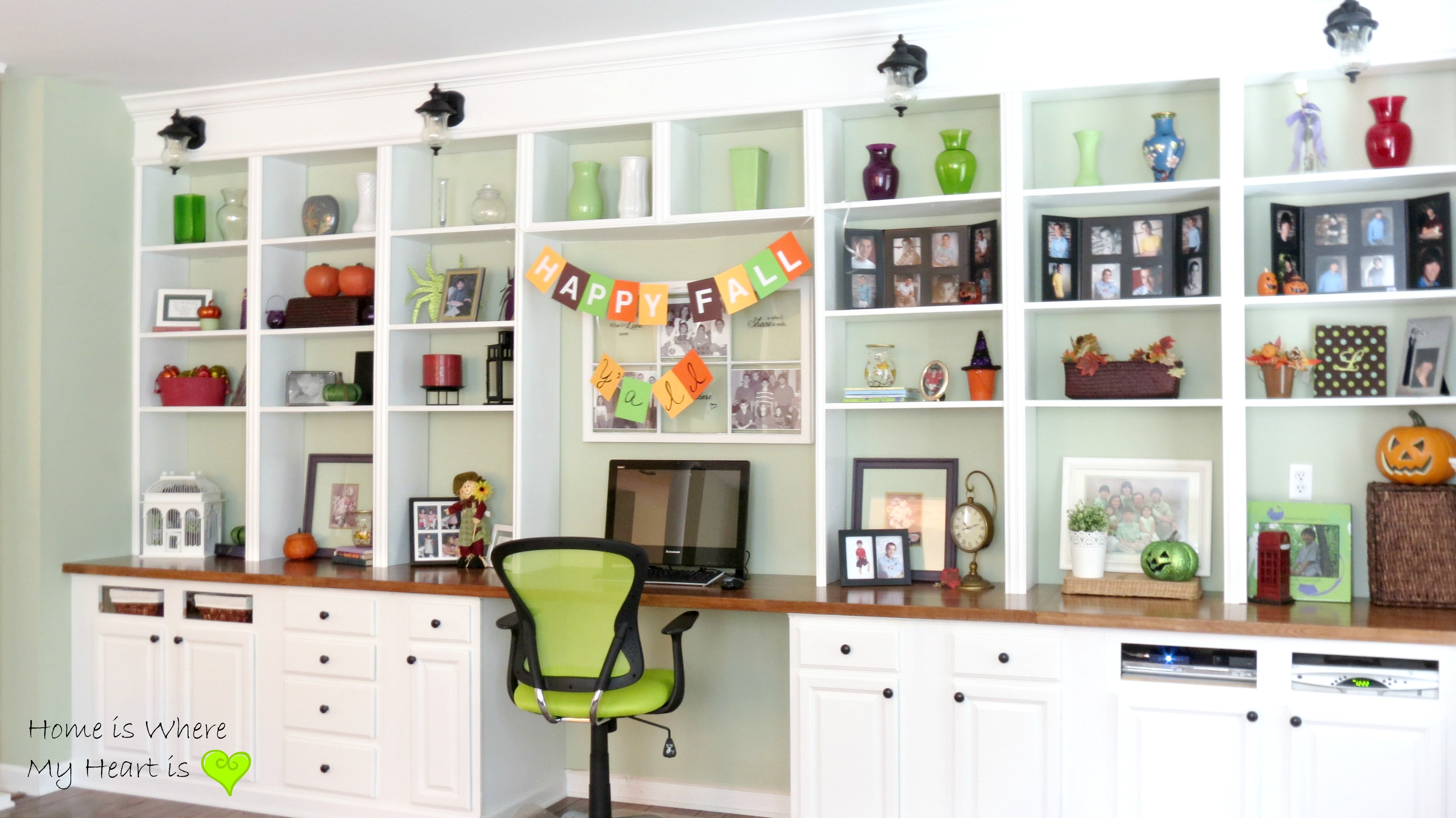 Build A Wall-to-Wall Built-In Desk And