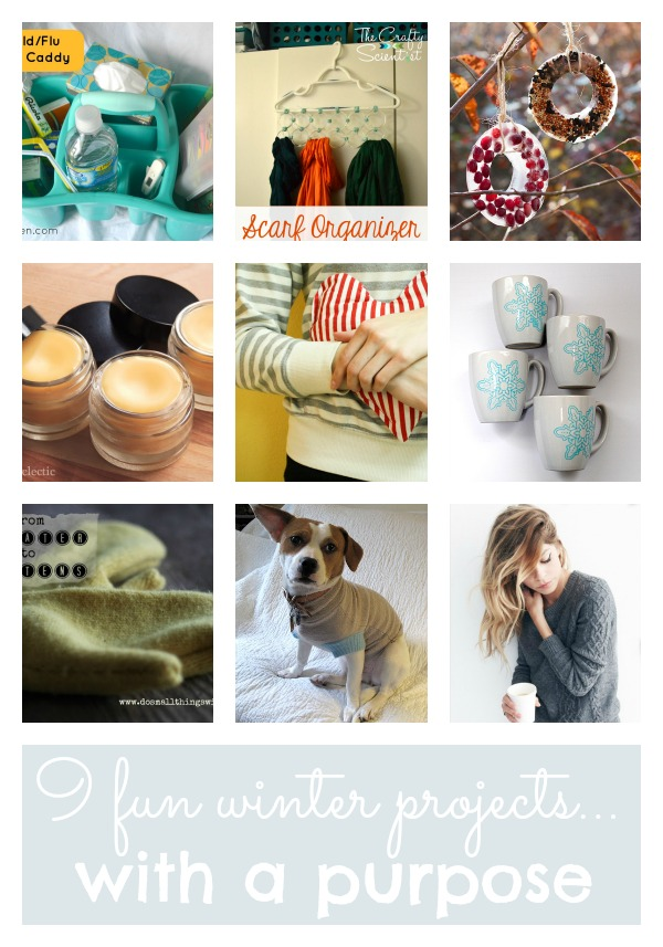 9 fun winter projects with a purpose at tipsaholic.com