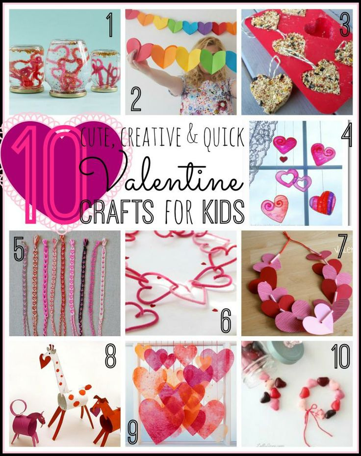 10 Cute Valentine Crafts For Kids Tipsaholic
