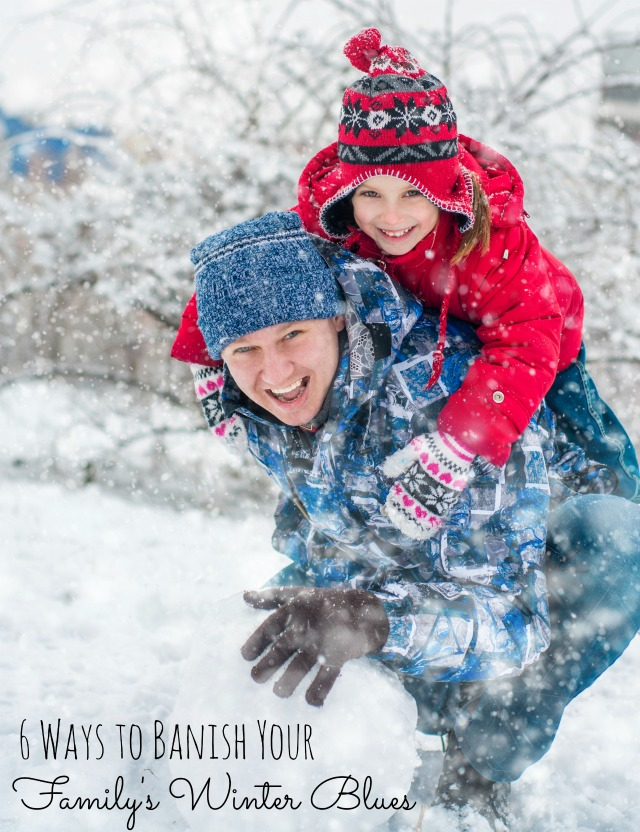 Don't let winter blues keep you cooped up. Find lots of great ideas to banish your family's winter blues with this list of ideas from tipsaholic.com #winter #family #activities #winterfun #kids