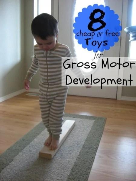 8 Cheap or Free Toys for Gross Motor Development   Tipsaholic.com #kids #toys #free #development #play