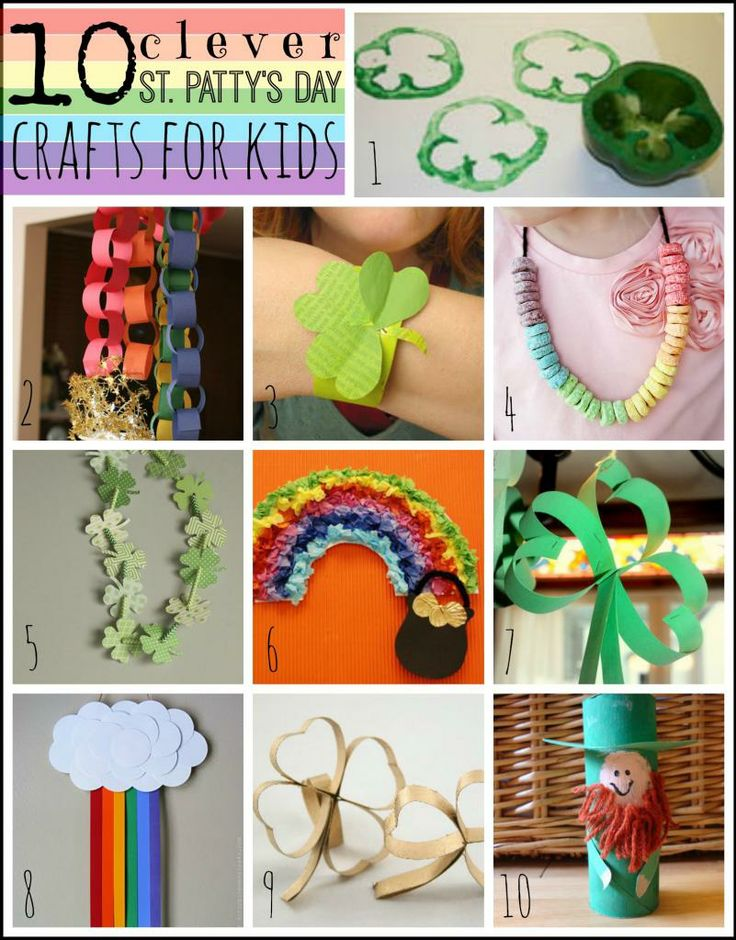 10 Clever St Patty S Day Crafts For Kids Tipsaholic Com