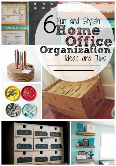 6 Fun and Stylish Home Office Organization Ideas and Tips | Tipsaholic.com #home #organization #office #storage #diy