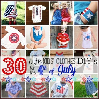 30 Cute Kids' Clothes DIYs for the 4th of July @Tipsaholic #diykidsclothes #patriotic