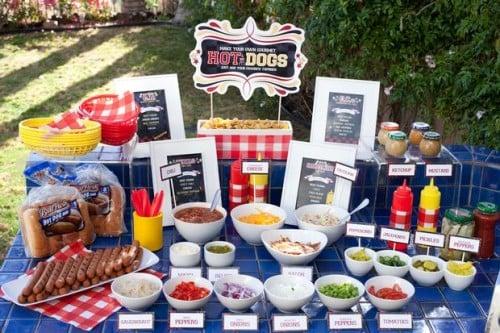 hot dog station patriotic bbq ideas