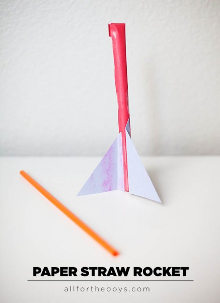 paper straw rocket