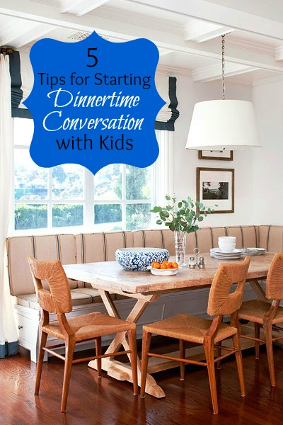 5 Tips for Starting Dinnertime Conversation with Kids | Tipsaholic.com #home #family #meal #dinner #conversation #kids