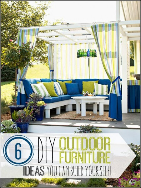 6Great DIY Outdoor Furniture Ideas - @tipsaholic. #DIY #outdoorfurniture #patio #summer