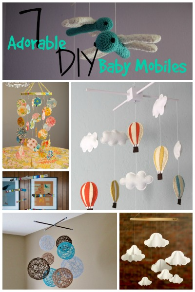 7 Adorable DIY Baby Mobiles | Tipsaholic.com #kids #nursery #baby #decor #mobile #crafts #diy