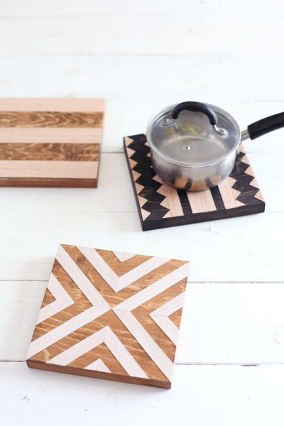 wood trivets diy