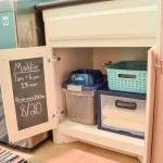 laundry cabinet pet organization