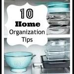 10 Home Organization Tips - Tipsaholic.com