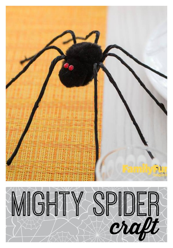 Create an easy Halloween craft and use it to decorate your home. An easy mighty spider craft is the perfect addition for Halloween decor via tipsaholic.com #halloween #spider #crafts