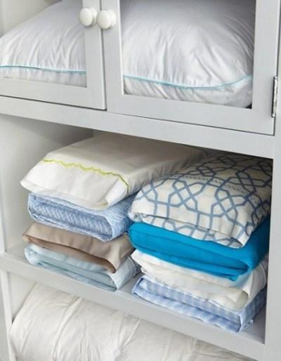 bedsheets storage