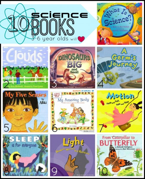 Reading picture books together is the perfect way to supplement your child's education. Here are 10 science books your pre-reader will love! 10 Science Books 3-6 Year Olds Will Love - Tipsaholic, #science, #kids, #education, #preschool, #sciencebooks