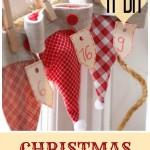 11 DIY Christmas Advent Calendar Garlands ~ Tipsaholic.com #Christmas #countdown #advent