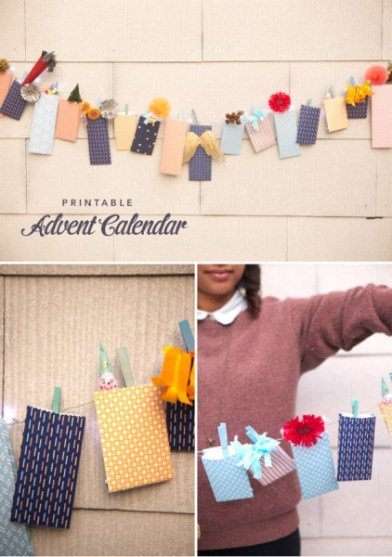 Find a fun way to countdown the days to Christmas and get a little crafty. Try one of these adorable 11 DIY Christmas Advent Calendar Garlands ~ Tipsaholic.com #Christmas #countdown #advent