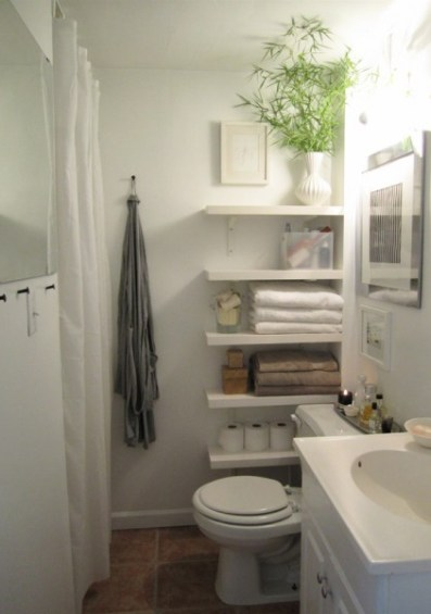 side toilet shelves