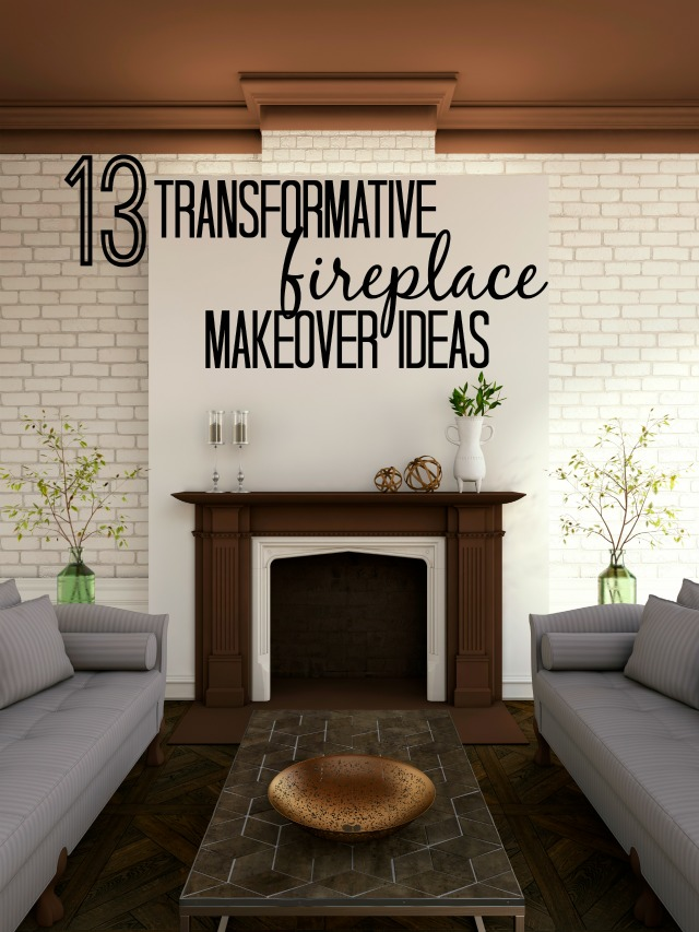 Remodelaholic 13 transformative fireplace makeover ideas if you have a fireplace in your home consider yourself lucky they are highly 13 transformative fireplace makeover ideas solutioingenieria Gallery