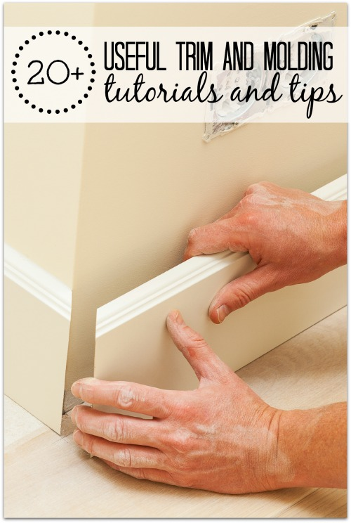 Finish off your rooms with beautiful baseboards, crown molding, and trim around windows and doors. 20+ Useful Trim and Molding Tutorials and Tips via @tipsaholic #trim #molding #diy #home #repair