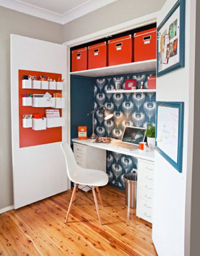 No Space For An Office? How About Building An Office Closet? Here Are 10