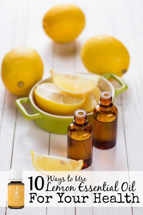 Lemon essential oil can enhance your hair, skin, immune system, and mental health. Here are 10 ways to use lemon essential oil for better health! 10 Ways to Use Lemon Essential Oil For Your Health via @tipsaholic #lemon #lemonoil #essentialoils #youngliving #oils