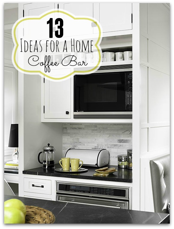 Superb Remodelaholic 13 Ideas For A Home Coffee Bar Download Free Architecture Designs Grimeyleaguecom