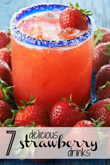 Brighten up your spring and summer days with a refreshing strawberry drink! Serve these 7 strawberry drinks at your next BBQ or pool party! 7 Delicious Strawberry Drinks via @tipsaholic #strawberry #drinks #drink #strawberries #summer