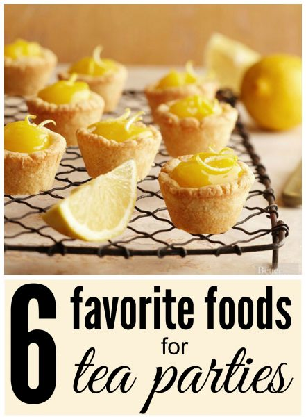 Are you ready to take your tea party to the next level? Fill your table with a variety of these favorite foods for tea parties and dig in! 6 Favorite Foods for Tea Parties ~ Tipsaholic.com #teaparty #partyfood