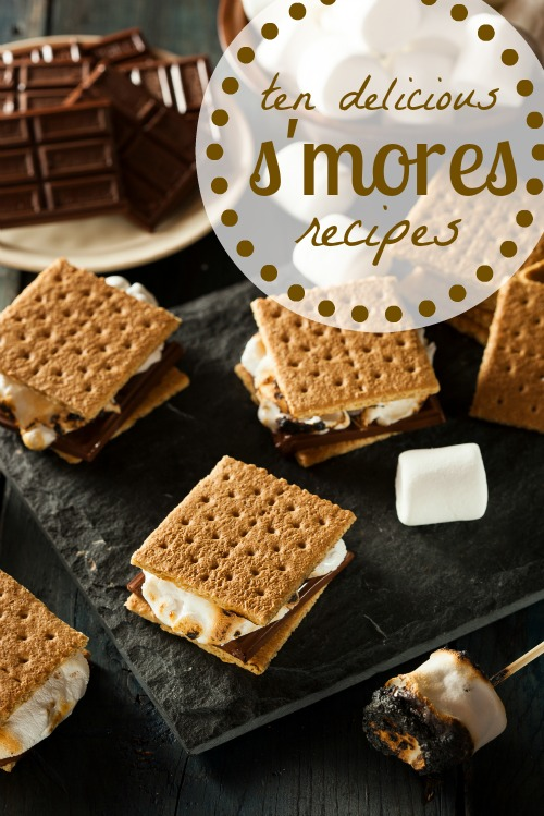 You don't have to go camping to enjoy the delicious flavor of s'mores. Get cooking with these 10 delicious s'mores inspired desserts! 10 Delicious S'mores Inspired Desserts via @tipsaholic #smores #desserts #marshmallows #chocolate #grahamcrackers #summer