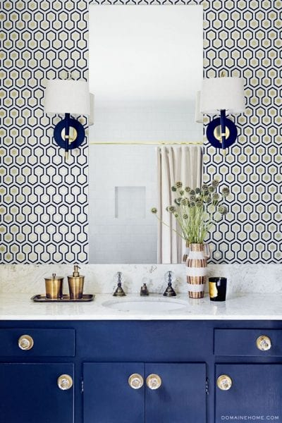 Coastal Glam Powder Room