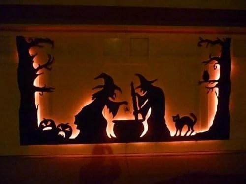 Cute Halloween Witches Garage Door Idea