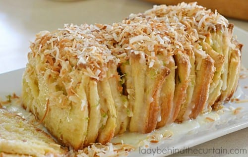 coconut lime pull apart bread recipe