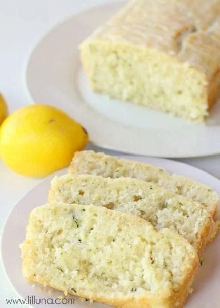 glazed lemon zucchini bread sweet bread recipe