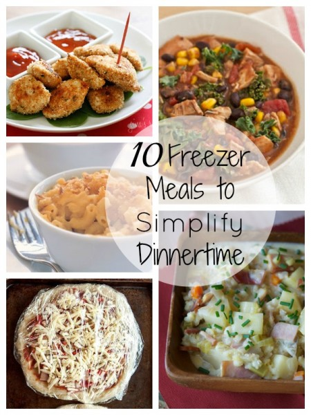 10 Freezer Meals to Simplify Dinnertime   Tipsaholic.com #dinner #cooking #freezer #makeahead
