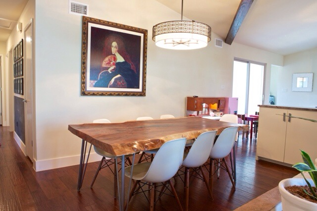 live edge dining room table.  Our DIY Live Edge Dining Room Table Remodelicious