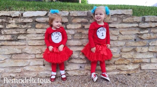 how to girly thing 1 thing 2 halloween costumes - Thing 1 Thing 2 Halloween Costume