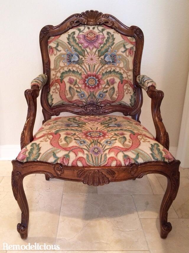 Living Room Queen Ann Chair Re Do Update Remodelicious